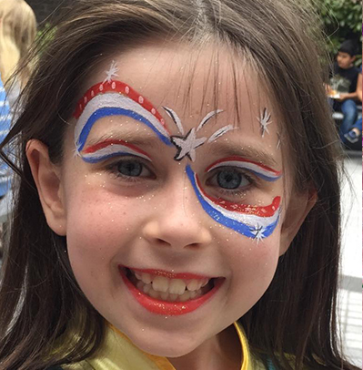 Face Painting 4th July